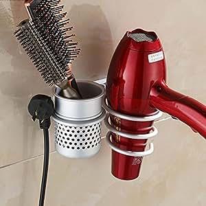 funnytoday montado en la pared secador de pelo secador peine accesorio de soporte de la de almacenamiento organizador excelente popular