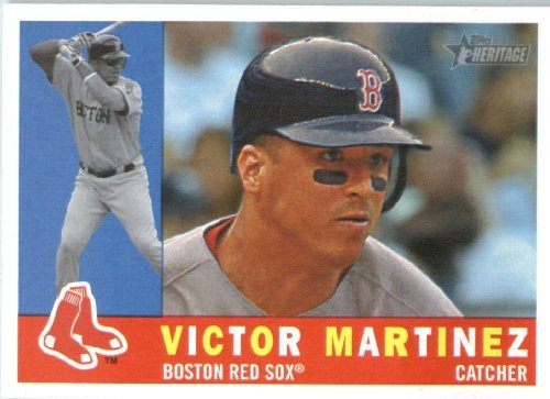 2009 Topps Heritage Baseball Card #611 Victor Martinez (2009 Topps Heritage Card)
