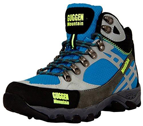 GUGGEN MOUNTAIN, Damen Frauen Wanderschuhe Outdoorschuhe Walkingschuhe M011, Farbe Blau, EU 40