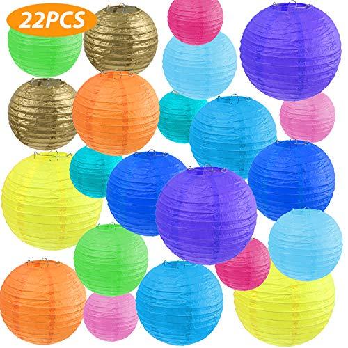 Vastar 22 Pcs Paper Lanterns - Paper Lanterns Decorative, 4
