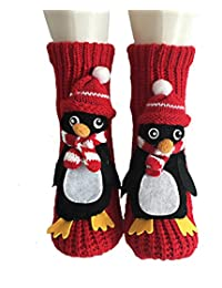 PreSox Non-slip Knit Sweater Warm Household Floor Socks for Women