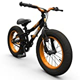 16' BIGFOOT Boys KIDS BIKE - Childrens SILVERFOX Bicycle in BLACK (Fat Tyres)