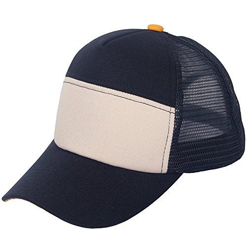 Unisex Plain Baseball Trucker Cap Mesh Blank Curved Visor Hat - Cool Hats Sale For
