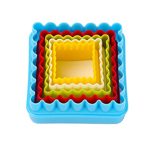Cookie Cutters, MCIRCO Two Sided Square Cookie Cutter Set Multi Size  Plastic Durable Fondant Cookie Cutters Shapes For Kids Multi Color Sandwich  Cutter With ...