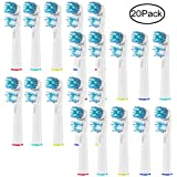 Replacement Toothbrush Head for Braun Oral B Dual Clean Brush Heads 20 Pack