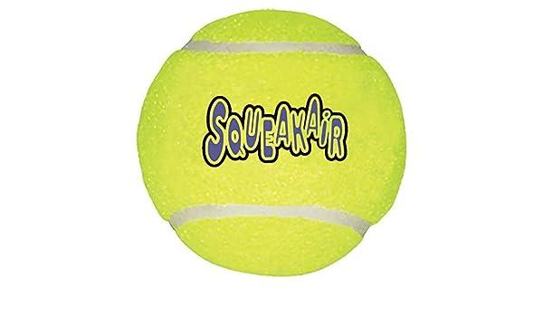 KONG Juguete de Pelota de Tenis Air Dog Squeakair, Grande ...
