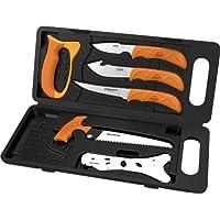 Outdoor Edge Wild-Pak Lot de 8 mallettes de Boucher Mixte Adulte, Orange/Gris, 152 mm