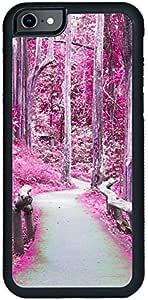 ديكالاك كفر حماية لهاتف ايفون 7، بتصميم طريق إلى الغابة، متعدد الالوان