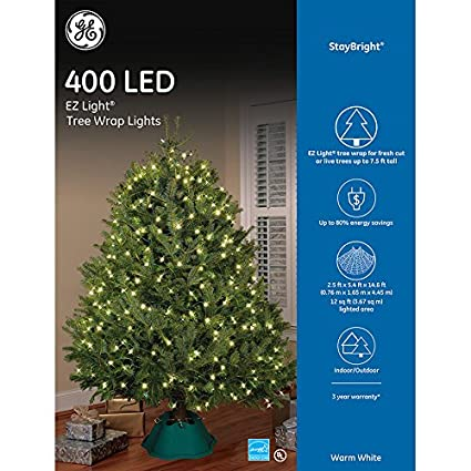 Ge Christmas Tree Lights.Ge Staybright 2 5 Ft X 5 4 Ft X 14 6 Ft Indoor Outdoor Constant Warm White Led Mini Plug In Christmas Net Lights Energy Star
