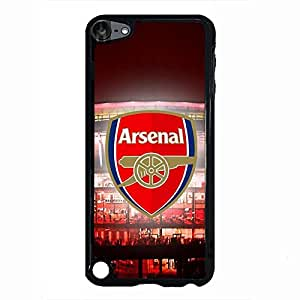 Custom Style Arsenal Football Club Logo Protective Phone Case Black Hard Plastic Case Cover For Ipod Touch 5th
