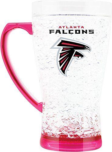 - NFL Atlanta Falcons 16oz Crystal Freezer Flared Mug with Pink Base and Handle