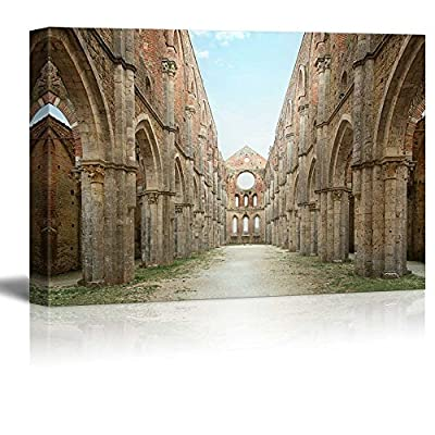 Cistercian Convent Built in The 12thcentury 30 Km Southwest of The City of Siena Tuscany Italy - Canvas Art Wall Art - 12