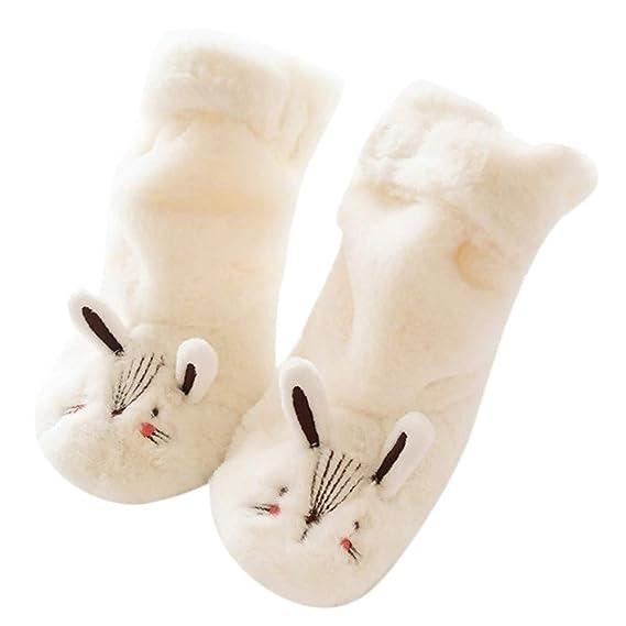 Mitlfuny Niños Niñas Invierno Calentar Felpa Calcetines de Piso para ...