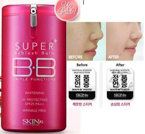 SKIN79 Super + Beblesh Baume Fonction BB Crème Triple (Pink Label) SPF25 PA + + 40g