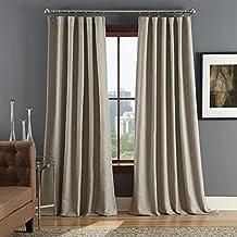 Cambria Gray Woven Chevron 84 Rod Pocket Curtain Panel Set
