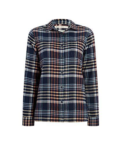 (Woolrich Women's The Pemberton Flannel Shirt, Navy Plaid)