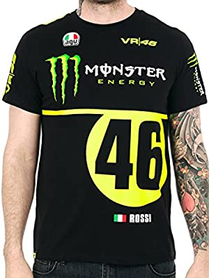 Valentino Rossi Monster Energy Black VR46 T-Shirt