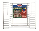 Toys : Melissa & Doug Deluxe Metal Wire Puzzle Storage Rack for 12 Small and Large Puzzles