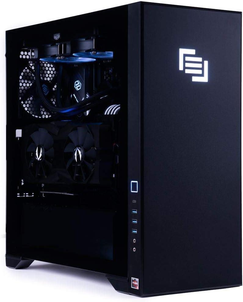 MAINGEAR Vybe 2 Gaming Desktop Tower Computer PC, AMD Ryzen 9 3900X 3.8GHz CPU, RTX 2080 Super 8GB GDDR6 GPU, 32GB DDR4-3200 RAM, 1TB NVMe SSD, USB 3.1 WiFi 6 Bluetooth 5.0, Windows 10 Pro