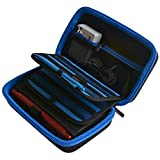 3DS XL Case, New 3DS XL Case, 2DS XL Case, Deluxe Hard Carrying Case for New Nintendo 3DS XL, New 2DS XL - Fits AC Wall Charger, 16 Game Storage Holders - Blue