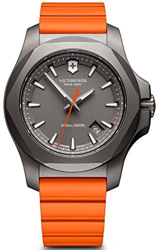 Victorinox I.N.O.X. Grey Dial Mens Orange Rubber Mens Watch 241758