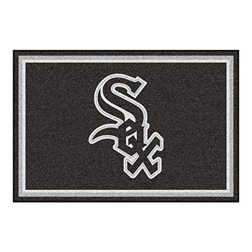 FANMATS MLB Chicago White Sox Nylon Face 5X8 Plush Rug