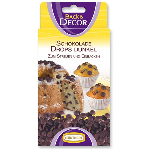 Backfeste Schokoladen-Drops, dunkel