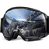 EletecPro Ski Goggles Sunglasses,Anti-fog UV400 Protection Snowboard Spherical REVO Mirror Lens with Over The Glasses OTG Skiing Skis Goggles Detachable For Men and Adult Outdoor Sports