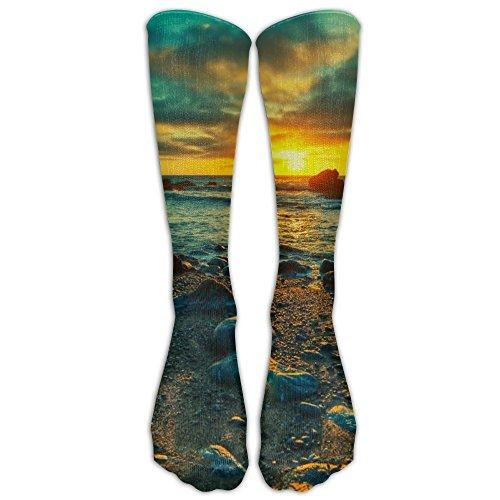 Morning Beach Unisex Fashion Crew Winter Socks For Women Compression - Florida Beach Blizzard