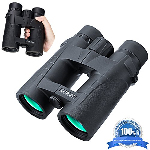 OPPUM 8x42 HD Binoculars, Military Telescope for Bird Watching Hunting and Travel, Compact Folding Size, High Clear Large View, Life-time Warranty!