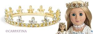 Gold Fleur De Lis Princess Doll Crown ~ Fits American Girl Dolls and Carpatina Dolls