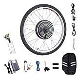 "Pinty FT2000 26"" Front Wheel 48V 1000W Ebike Hub Motor Conversion Kit with Dual Mode Controller for Electric Bicycle Bike, Up to 28-30 MPH"