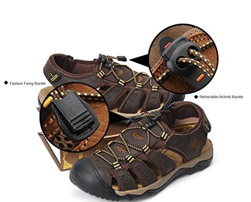 d'été Conduite LIANGXIE Sandales et Cool de en Plein pour Hommes en Marche de Respirant Cuir Chaussures Sandales randonnée SandalsZHANGM Occasionnels Mode Respirant air green Dark de a8z1rwavxq