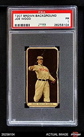 Amazoncom 1912 T207 Smoky Joe Wood Boston Red Sox