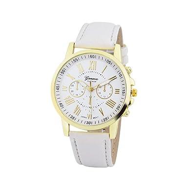 2a2987098 Darringls_Reloj Geneva,Reloj Analogico para Mujer de Cuarzo Mujeres Moda  Mujer Reloj de Pulsera Correa de Cuero Cuero Reloj Casual Lujo analógico  Cuarzo ...