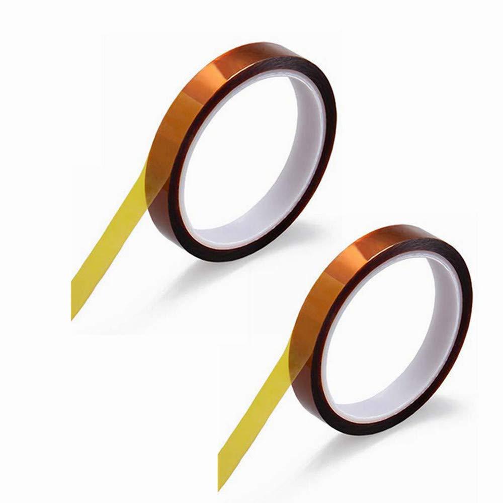 MeetRade 3 rollos 12 mm x 100 pies resistente al calor cinta de alta temperatura prensa calor cinta de poliimida cinta adhesiva de sublimaci/ón para transferencia de calor vinilo impresoras 3D dorado