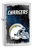 Zippo NFL Chargers Lighter, Silver, 5 1/2 x 3 1/2cm