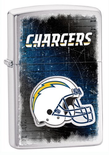 Zippo NFL Chargers Lighter, Silver, 5 1/2 x 3 1/2cm (Zippo Nfl San Diego Chargers)