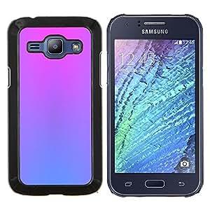 LECELL--Funda protectora / Cubierta / Piel For Samsung Galaxy J1 J100 -- púrpuras vibrantes colores azul rosa limpia --