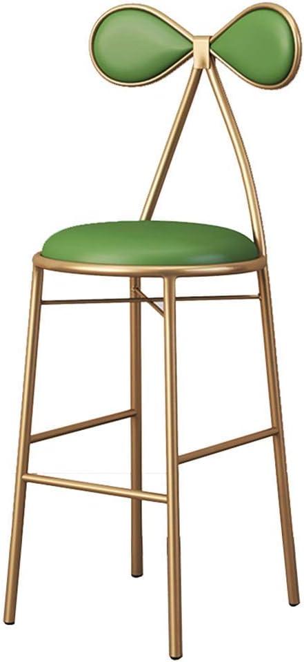 Taburete de bar NAN Liang, silla de jardín / taburete de jardín, taburete de maquillaje, hecho a mano de hierro, altura del asiento 45 cm / 65 cm / 75 cm, 3