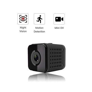 Lu Mini cámara inalámbrica WiFi Cámara Control Remoto 1080p visión Nocturna HD Seguridad cámara de vigilancia 140 ° Gran Angular Voz remota: Amazon.es: ...