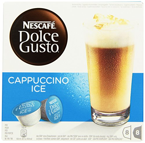 Nescafé Dolce Gusto Cappuccino Ice, Pack of 3, 3 x 16 Capsules 24 Servings (Cappuccino Ice)