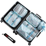Packing Bags,Lanivas 7 Piece Foldable Nylon Storage Cosmetics Large Travel Case Spring Scene