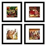 WOOD MEETS COLOR 12x12 Picture Frames Set, Mat for