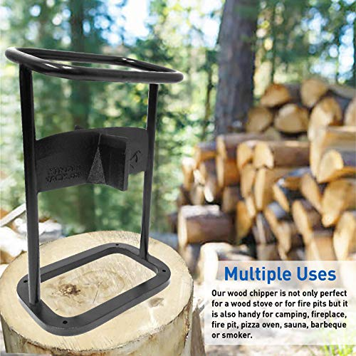 EasyGoProducts Jack Axe Wedge Firewood Kindling Tool Cuts 4