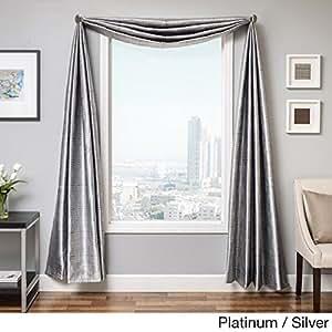 Softline Elton Square 18-foot Window Scarf Platinum/Silver