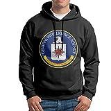 Bekey Men's Middle Intelligence Pullover Hoodie Sweatshirt L Black