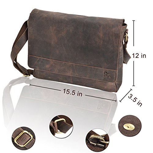 Buy mens leather messenger bags