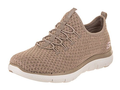 Appeal Passports On Skechers Womens Flex Sneakers Slip 0 2 Taupe Kqq6yAr5BI