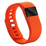 Relojes Inteligentes Best Deals - iMinker Bluetooth 4.0 Sport reloj de pulsera inteligente, soporte de banda Smart Fitness Activity Tracker, podómetro, contador de calorías, monitor de sueño para iPhone Samsung Android IOS teléfono (naranja)